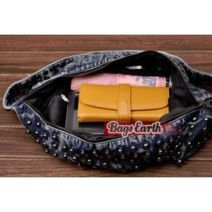denim girls messenger bag