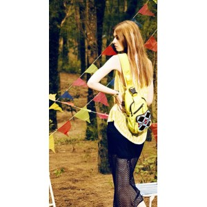 yellow Sling travel bag