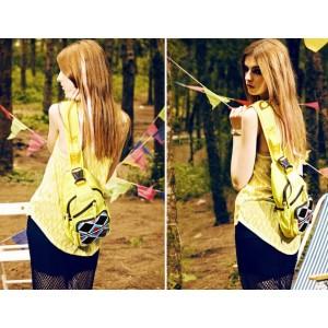 yellow small shoulder bag