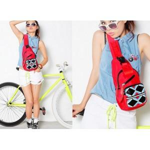 red Sling travel bag