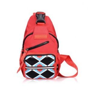 red small shoulder bag