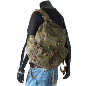 2013 Army Green School Bag