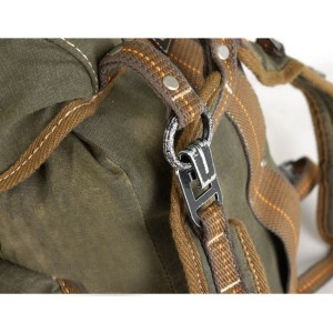 Army Green Retro Canvas Backpack
