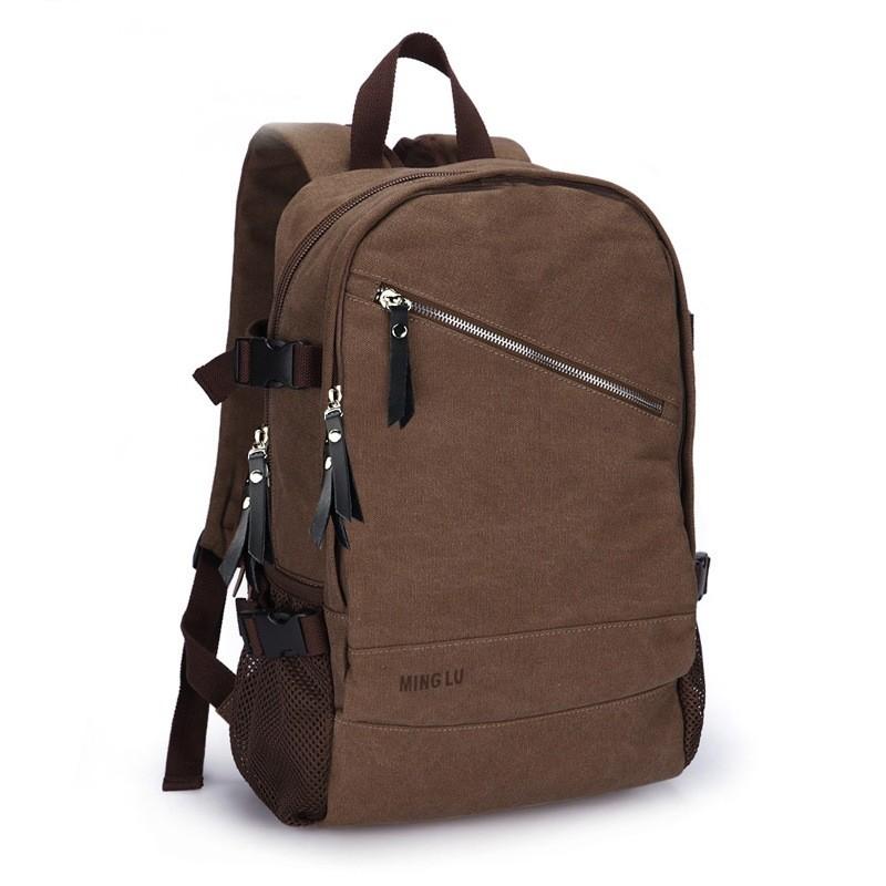 vintage canvas backpack for men laptop purse backpack. Black Bedroom Furniture Sets. Home Design Ideas