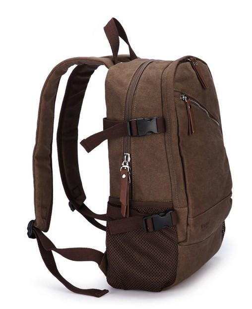 Vintage canvas backpack for men, laptop purse backpack - BagsEarth
