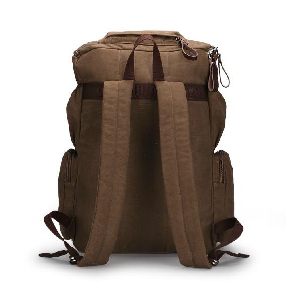 Motorcycle backpack, european canvas rucksack - BagsEarth