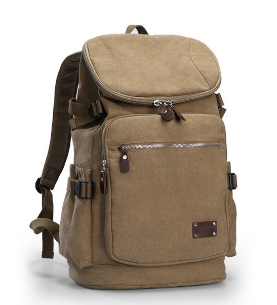 Canvas backpack mens, laptop day pack - BagsEarth