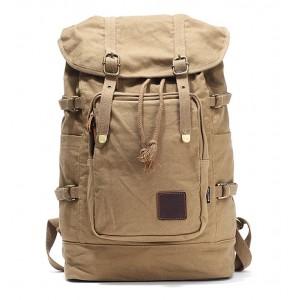 Canvas rucksack backpack khaki