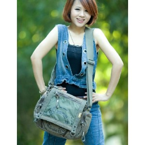 army green cross body shoulder bag