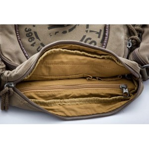 khaki cross body shoulder bag