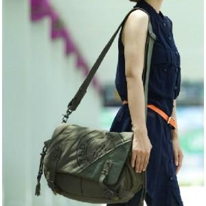 army green school shoulder bag