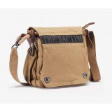Travel shoulder bag, mens canvas shoulder bag