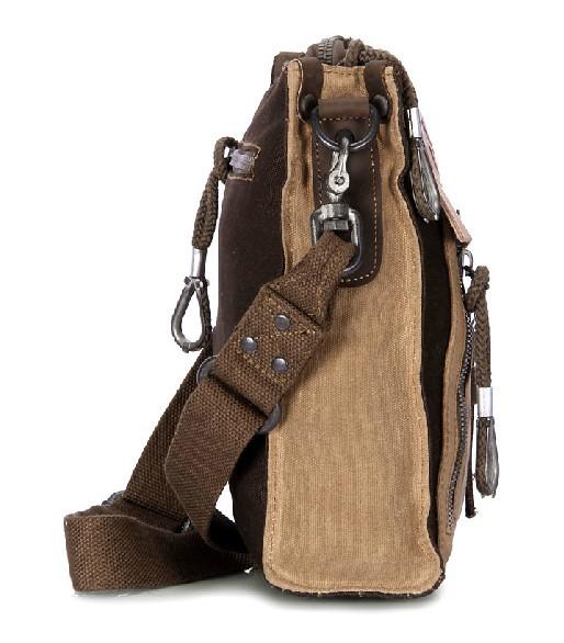 Canvas shoulder bag, man bag - BagsEarth