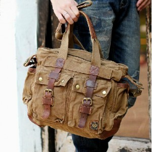 khaki Male shoulder bag