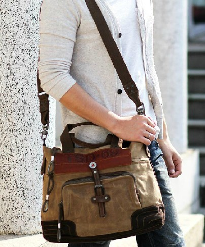 Funky Shoulder Bag Khaki Cross Body