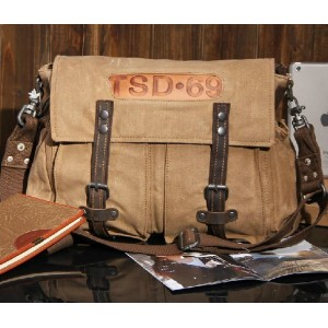 khaki european shoulder bag
