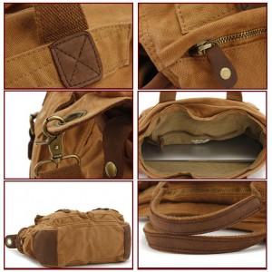 Khaki Satchel shoulder Bag