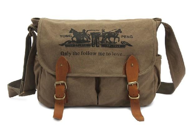 Canvas Messenger Bag For Men Military