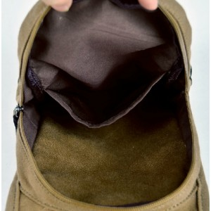 khaki Bag shoulder travel