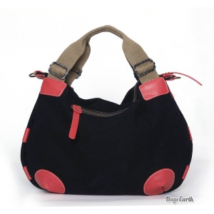 Black Fashion Canvas Tote Bag