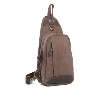 coffee canvas sling bag