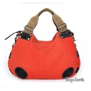 Orange Fashion Canvas Tote Bags