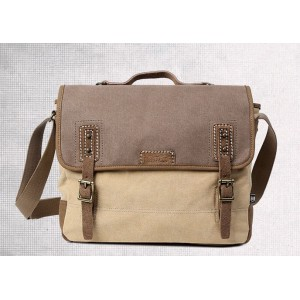 khaki Distressed messenger bag