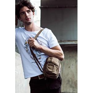 canvas travel shoulder bag