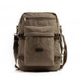 Hiking back pack, vintage canvas shoulder bag rucksack backpack