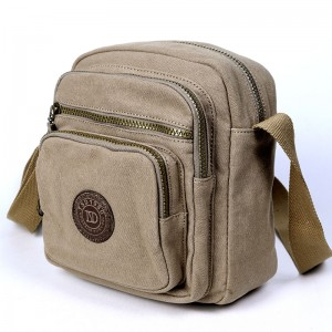 Small khaki messenger bag