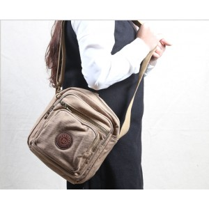 Small khaki shoulder bag