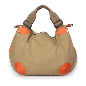 khaki Canvas Messenger Bags For Women