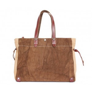 coffee  leather Shoulder handbag