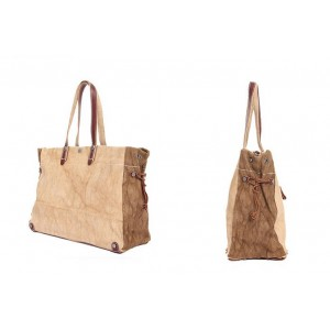 khaki Large Cotton canvas bag