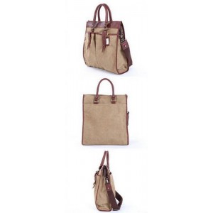 khaki Real leather Shoulder bag