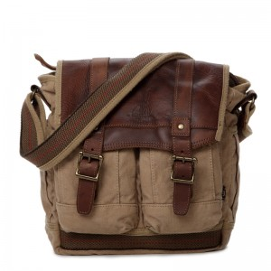 khaki Mens Shoulder Canvas Bags