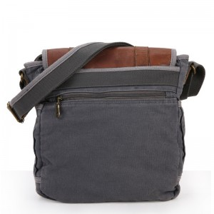 grey Mens Shoulder Canvas Bags