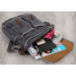 grey Canvas Bags