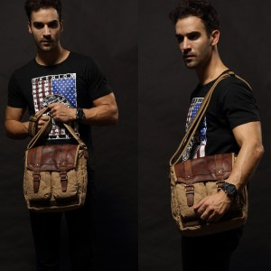 Canvas Messanger Bag Mens