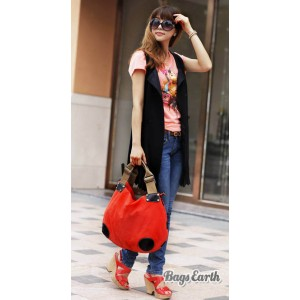Orange Fashion Canvas Tote Bag For Women