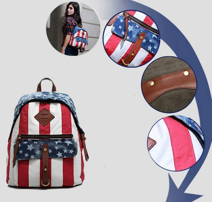 143201bbb ... Ipad Bag For College · Girls Canvas Backpacks · Canvas Backpacks For  College · Leisure Small ...