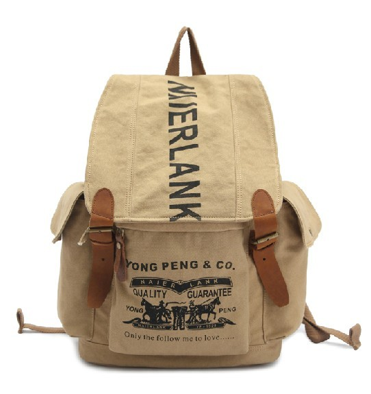 Leather and canvas rucksack, fashion canvas backpacks for girls ...