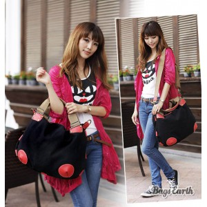 Black Fashion Canvas Tote Bag For Women