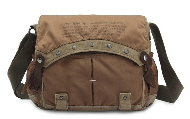 Canvas travel shoulder bags for men, canvas satchel book bag ...