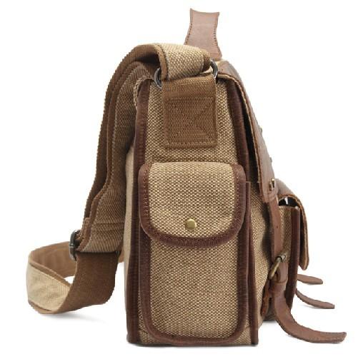 Canvas satchel bag for men, canvas satchel messenger bag - BagsEarth
