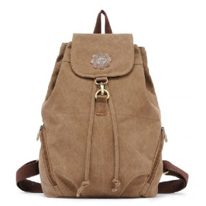 Vintage canvas rucksack, canvas knapsack backpack