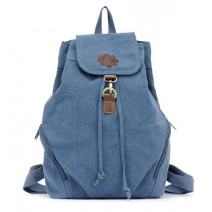 blue Vintage canvas rucksack