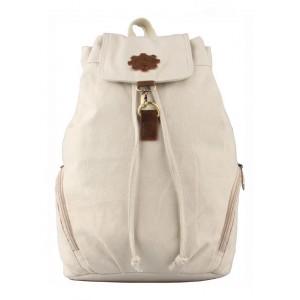 beige Vintage canvas rucksack