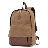 Vintage canvas backpack for women