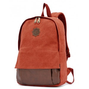 red canvas backpack for sale
